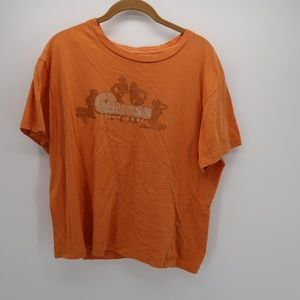 Guess Orange Short Sleeve Crop Top Size Large